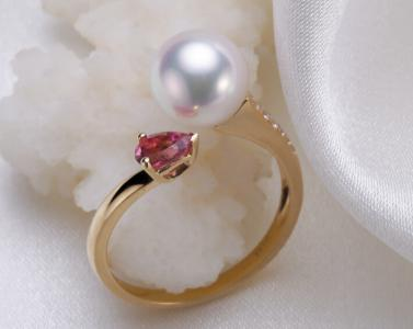 fresh water pearl gold ring