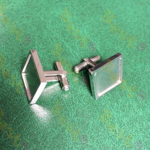 plain metal cufflinks