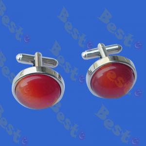Opal brass cufflinks