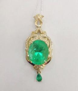 Emerald 18K gold Necklace