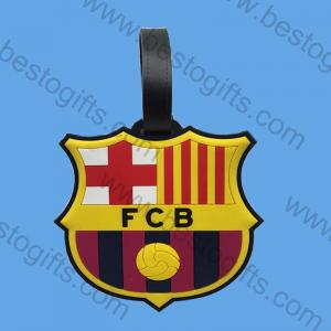 soft PVC FCB travel luggage tag