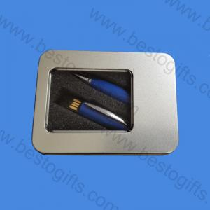 metal box with window for pen