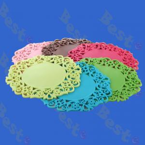 flower shape silicone coaste