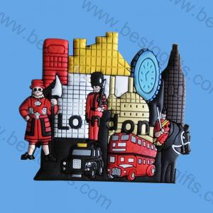 London souvenir rubber fridge magnet