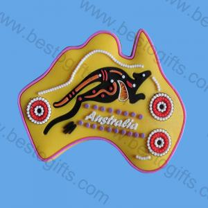 Australia rubber PVC magnet fridge
