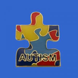 Puzzle autism awareness lapel pin
