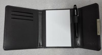 PU notebook with metal pen