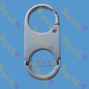 Audi car logo shopping trolley coin keychain
