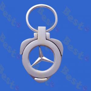 Benz logo coin trolley token keychain