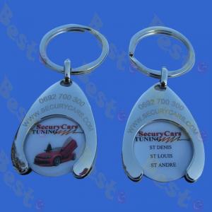 printing logo shopping cart token coin key ring