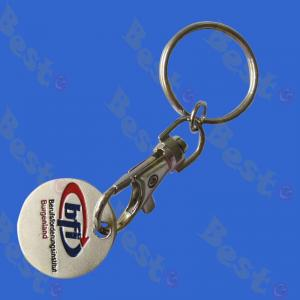 supermarket cart token coin key holder