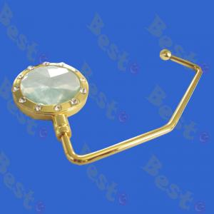 straight hook diamond purse hook