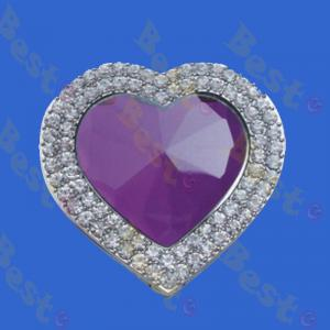 diamond crystal heart puse holder