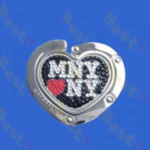 rhinestone sticker heart bag hook