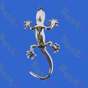 3D silver gecko car badge