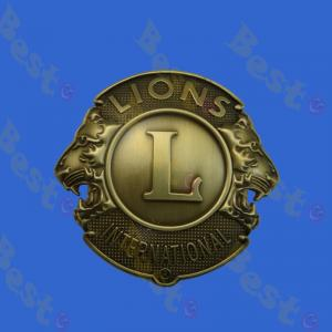Lion club front car badge