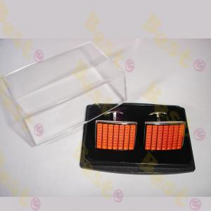 transparent Plastic cufflink box