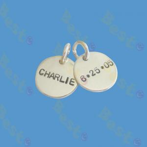 stainless steel jewelry tag