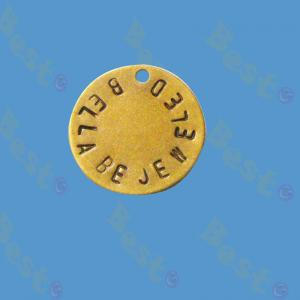12mm jewelry gold tag