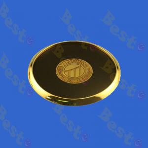 gold round metal coaster