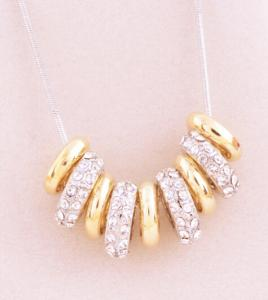 gold Necklace with crystal