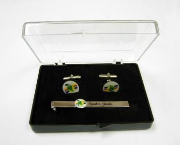 transparent box for cufflinks and tie clip