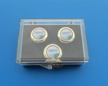 transparent box for cufflinks and lapel pin